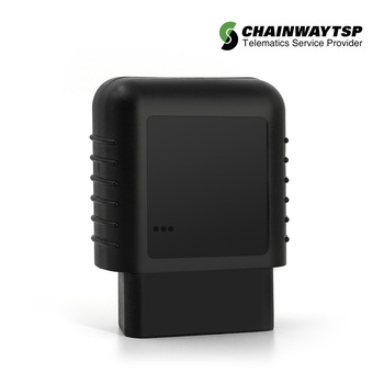 OBD II plug GPS vehicle tracker real time monitoring system