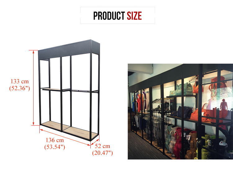 RETAIL STORE FURNITURE DESIGN BAG FIXTURE FLOOR DISPLAY STAND
