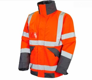 Hi Vis Recovery Workwear Bomber Jacket With Fleece Lining Orange