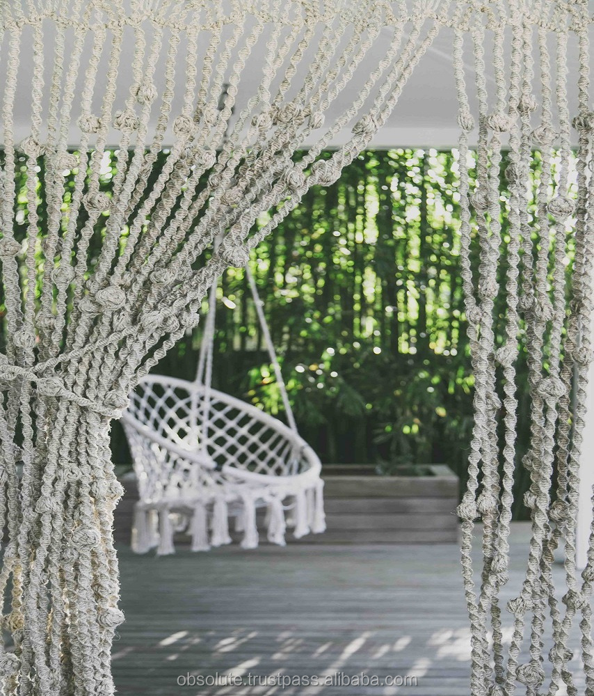 Macrame Curtain,Wedding Arch,Large Bohemian Window Covering,Backdrop Headboard Curtain