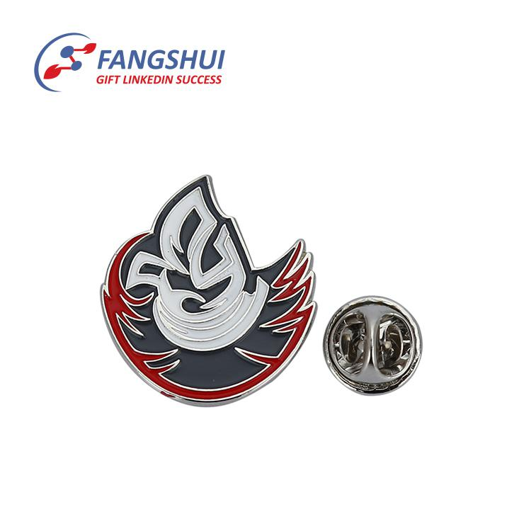 Promotional hard enamel souvenir custom wings lapel pin monogram gift badge uniform white make lapel pin