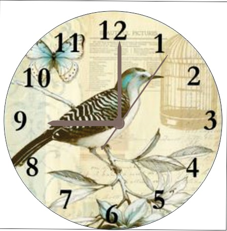birds wall clock for sweet home