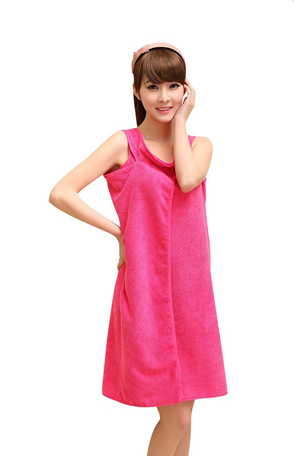 22438faa90 Get Quotations · Daycount Bath Towel Wrap Beach Spa Bathrobes Bath Skirt  Easy Wear Clean Soft Polyster Microfiber Fabric