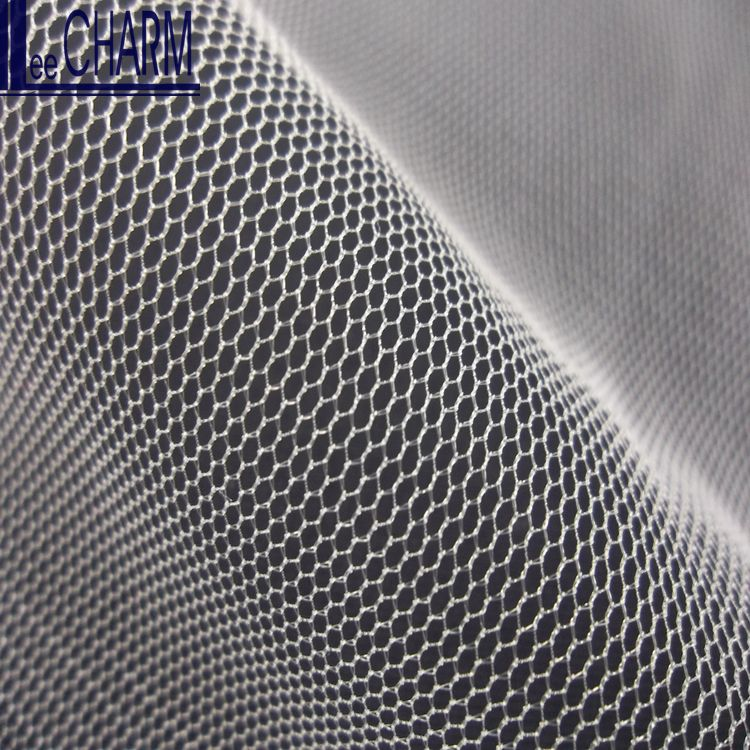 LCSH509 Taiwan 30D Knitted Hexagon Wedding Net Fabric