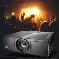 inproxima K1000WU, DLP top class Interactive projector laser ultra Short throw for 3D mapping