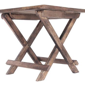 Magasin Indya Rustique En Bois Pliant Carré Table Basse D\'appoint Ottoman  Canapé Support De Table Portable Salon - Buy Table Basse Ronde Pliante En  ...