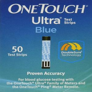 OneTouch Ultra Blood Glucose Test Strips Blue - 50 Count CT