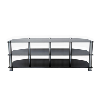 triangle glass tall Entertainment unit tv stand