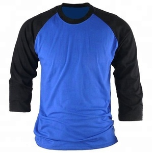 Unisex Simple Baseball Cotton 34 Sleeve Raglan Shirts