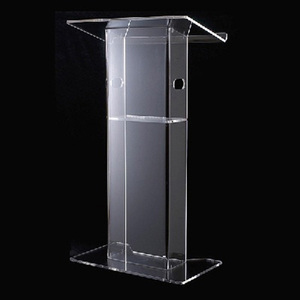H-Style Acrylic Podium Glass Conference Room Pulpits Crystal Acrylic Lectern