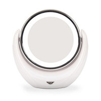 Double Sided Makeup Mirror with LED Light 1X/5X Magnifying Mirror 360 Rotation 791