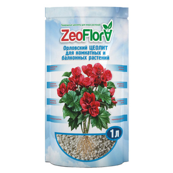 Soil conditioner ZeoFlora for indoor (houseplants) and balcony plants, begonia, 1 liter