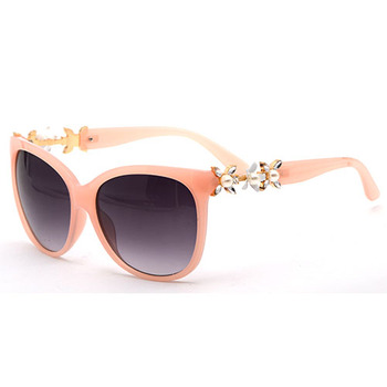 Ready 2019 LATEST NEW DESIGN FASHION WHITE FLOWER JEWELRY DIAMONDS PLASTIC BIG SIZE LADY SUNGLASS GDH10028