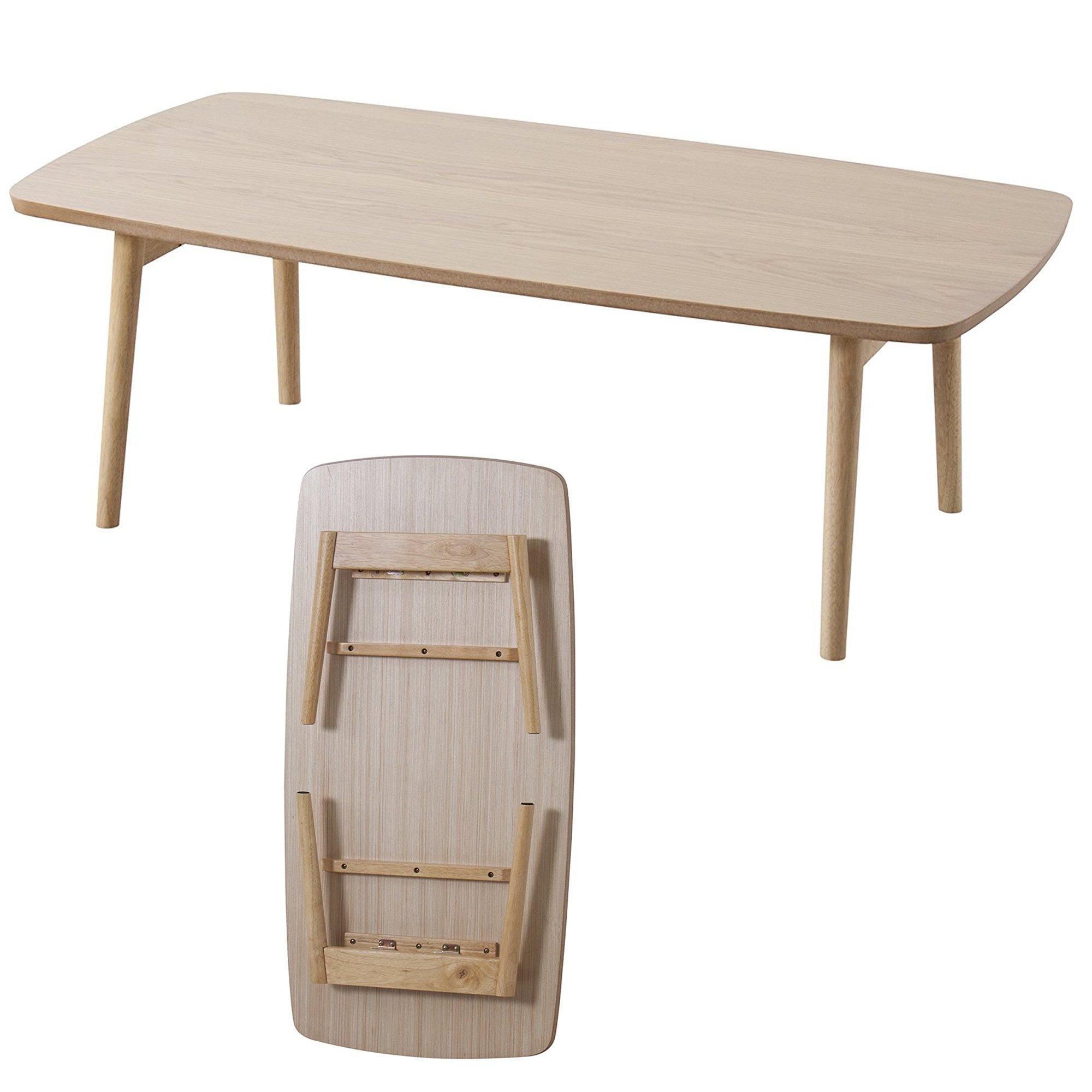 Cheap folding wooden table legs find folding wooden table legs get quotations azumaya wooden folding legs coffee center table blt 229oak natural oak watchthetrailerfo