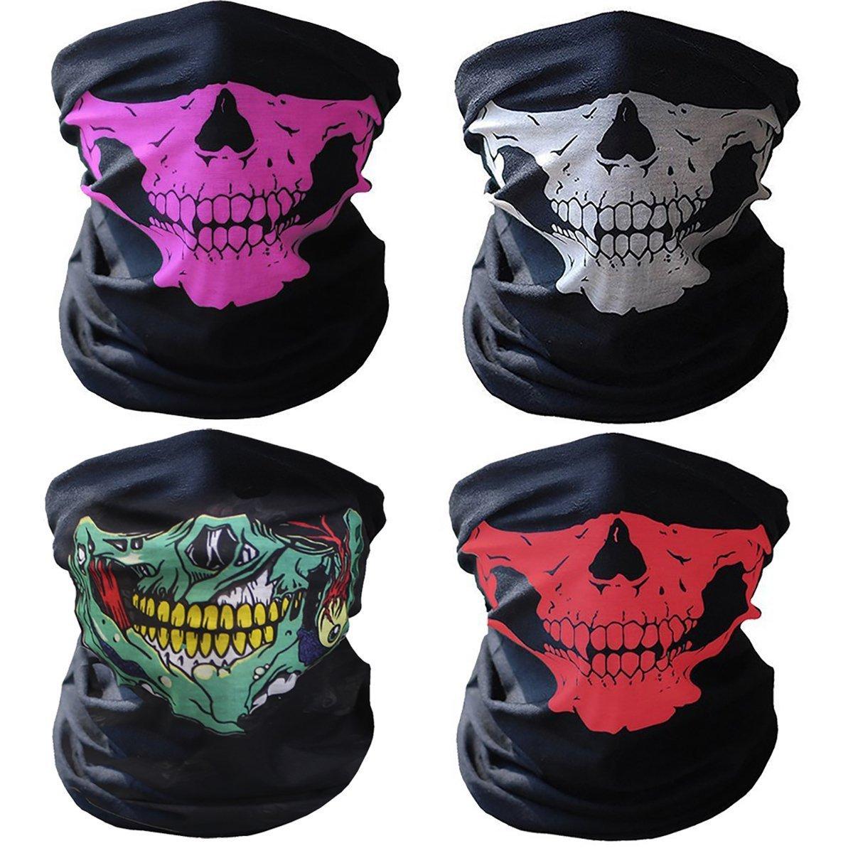 Skeleton Ghost Skull Face Mask Biker Hiking Dusk Proof Anti-Gray Mask new