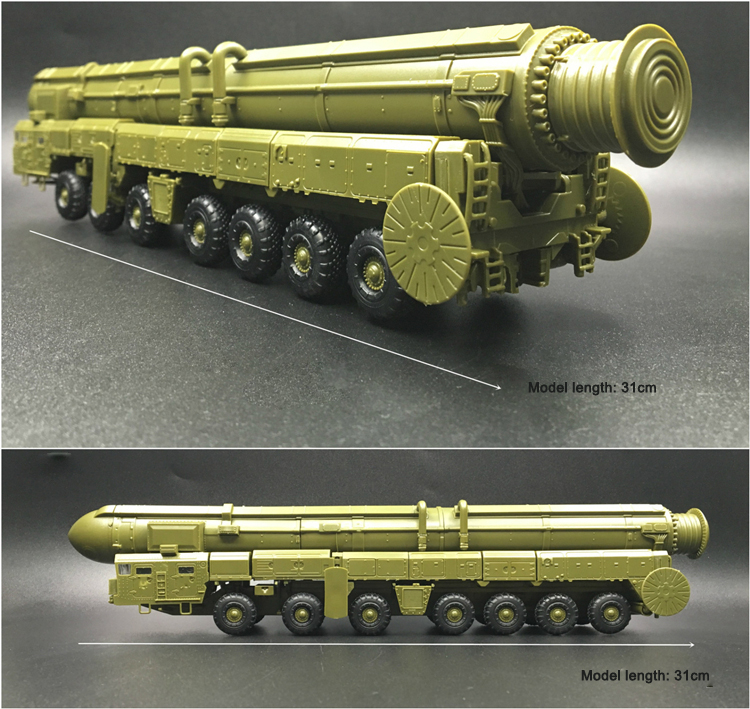 Plastic Missile Model Kit 1:72 Military Model Ss-25 Intercontinental  Ballistic Missiles - Buy Military Model Building,Missile Launcher  Toy,Military