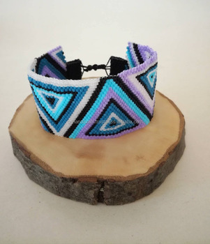 Miyuki Bracelet With Triangles Friendship Bracelets Words Fashion Rings Matching Macrame Patterns Beads