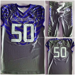 D 1428 Custom Sublimation American football jersey/Tackle twill American uniforms Jerseys pants American
