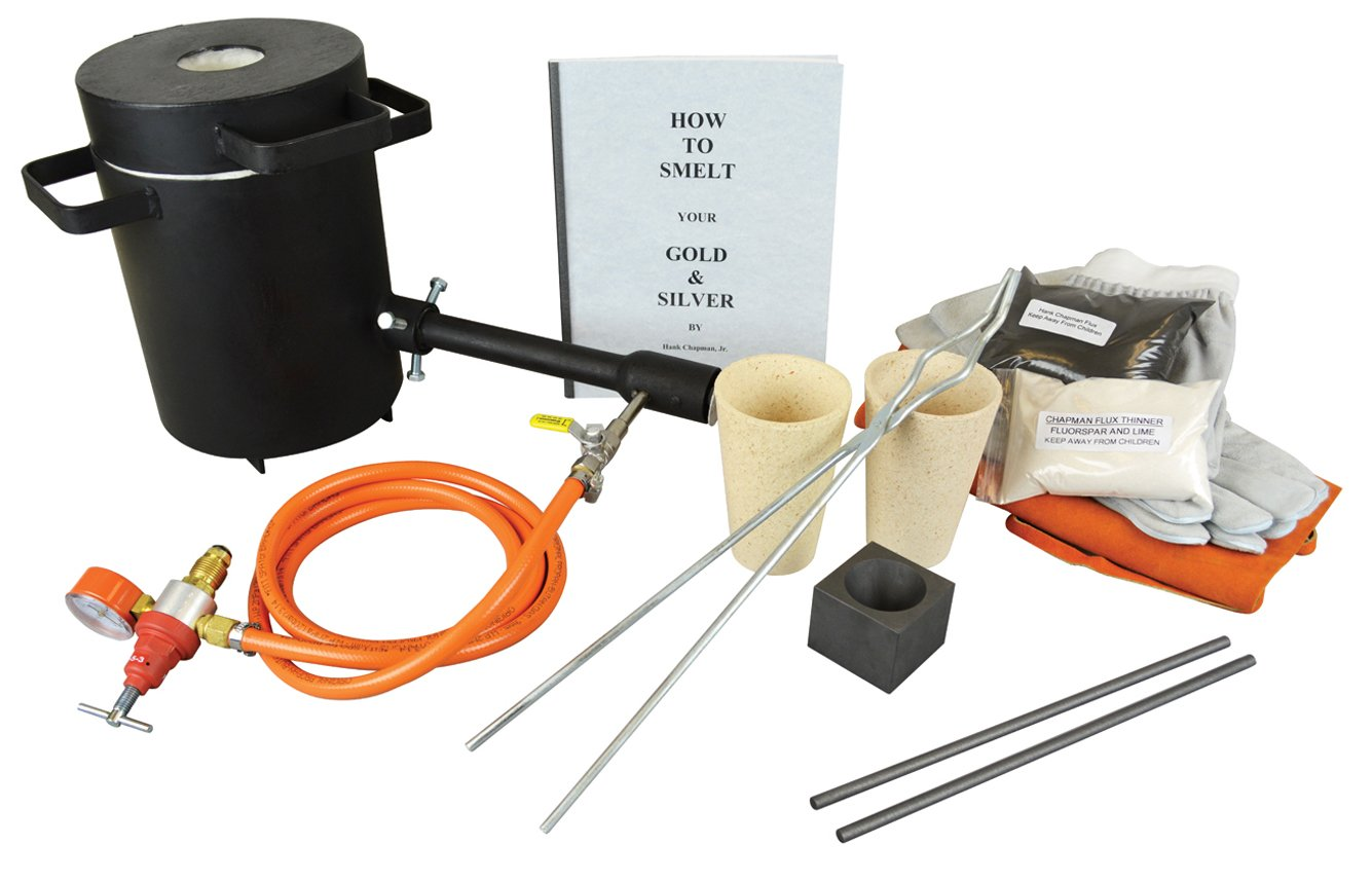 4 Kg Propane Melting Furnace Kit w//No 3-4 Kg Clay Graphite Foundry Crucible w//and 19 Hinge-Style Foundry Crucible Tongs Gold Silver Metal Refining Casting Tool