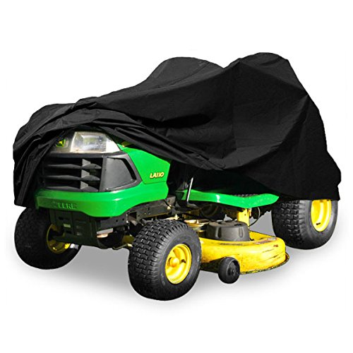 """North East Harbor Deluxe Riding Lawn Mower Tractor Cover Fits Decks up to 54"""" - Black - Water, Mildew, and UV Resistant Storage Cover"""