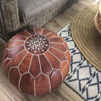 Cool Handmade Ottoman Moroccan Pouf Leather Authentic Moroccan Pouf Handcrafted Carolos Pouf Buy Ottomans Morocan Pouf Ottoman Colorful Ottomans Lamtechconsult Wood Chair Design Ideas Lamtechconsultcom