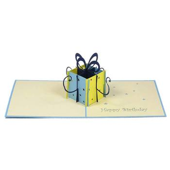 Birthday Gift Box 3d Origami Card Hot Sales Pop Up Handmade Greeting