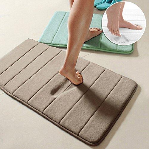 40x60cm Coral Velvet Memory Foam Rug Bathroom Mat Soft Non-slip Floor Carpet Memory foam floor mat Bathroom floor mat set Floor mat entrance by Randall Elliott