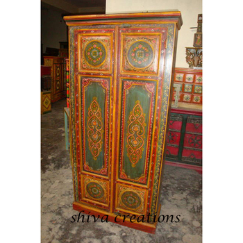 Hand Painted Wardrobe Indian Painted Furniture Buy Hand Painted