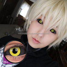 Full black contact lens cover your eyes 22mm sclera lens ColourVUE