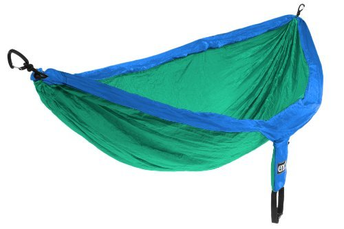 ENO Eagles Nest Outfitters - DoubleNest Hammock, Portable Hammock for Two, Royal/Emerald (FFP)