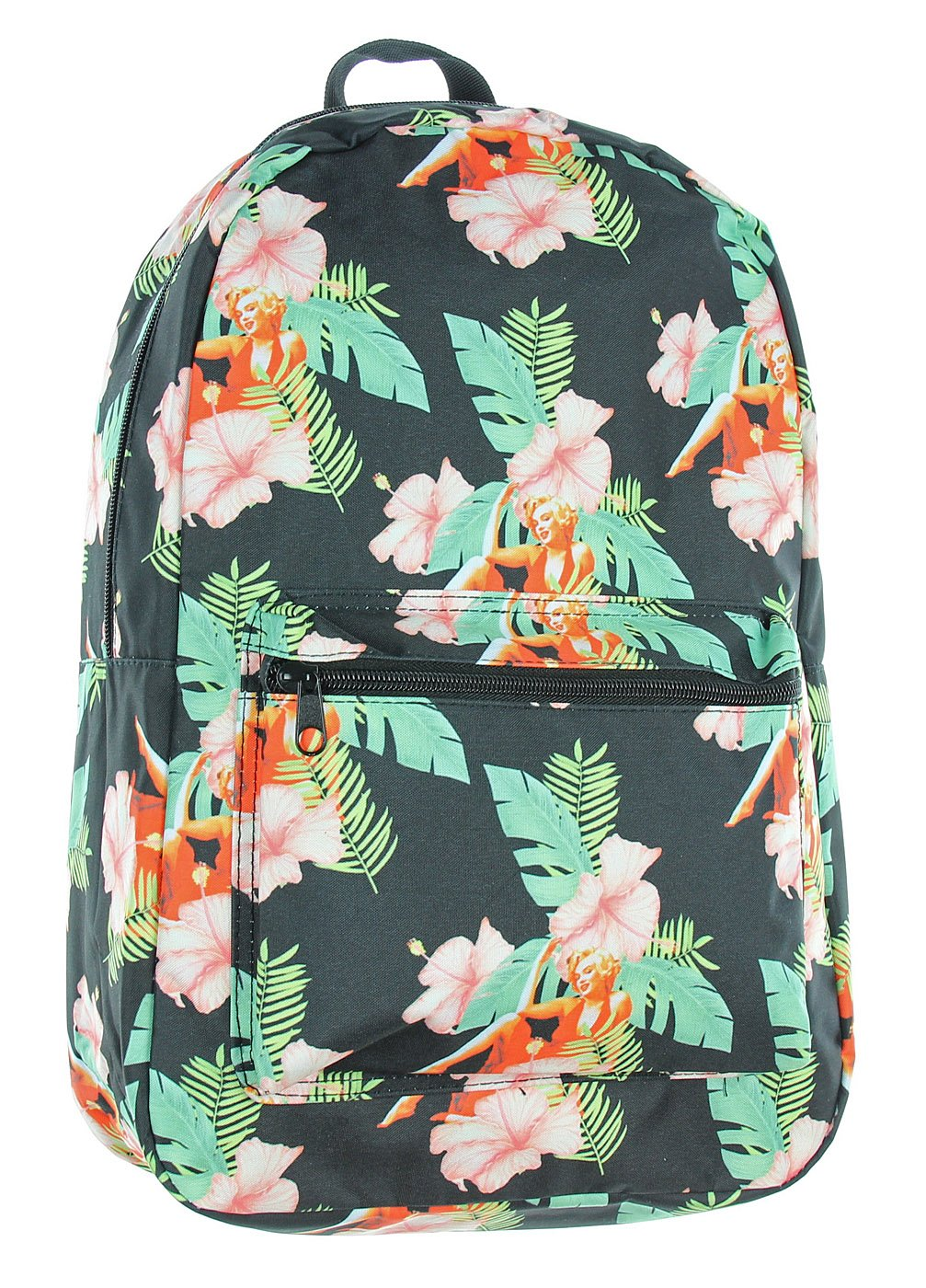 Bioworld Marilyn Monroe Hibiscus Flowers All Over Print Backpack Actress Diva