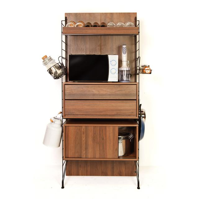 Ezbo Kitchen Furniture Pantry Storage Tall Cabinet Wooden 6 Feet Open Shelf Cabinets Modular Shelving Unit