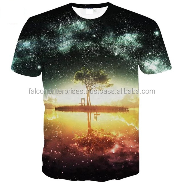 Space Galaxy T-shirt Men/Women Harajuku Hip hop Brand T-shirt 3d Print Nightfall Tree Summer Tops Tees T shirt