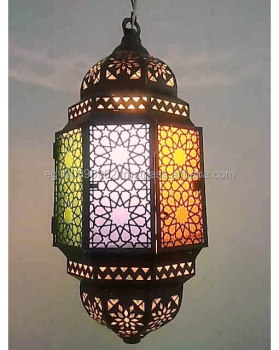 B146 Octagonal Moroccan Art Antique Style Lighting Lamp Pendant Hanging Light Br Product On Alibaba