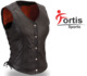 Custom made personalized short winter brown leather suede leather motorcycle vest womens