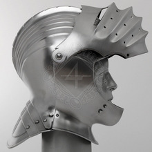 Sca <span class=keywords><strong>Larp</strong></span> Middeleeuwse Ridder Close Armet Helm 16 Gauge TC133
