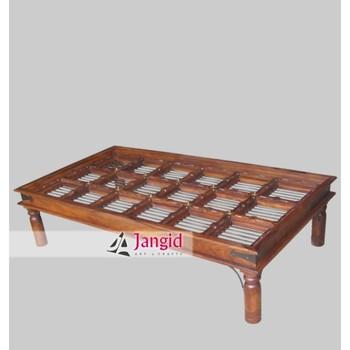 Indian Classic Sheesham Wooden Short Leg Iron Jali Coffee Table   Buy  Classic Wooden Coffee Table,Short Leg Coffee Table,Wooden Center Table  Product ...