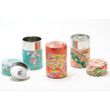 Tin can tea with gorgeous design for tea,pasta, spices , wheat flour