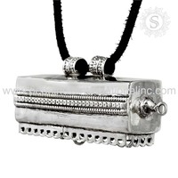 Prayer box plain silver pendant jewelry wholesaler silver jewelry 925 sterling silver jewelry supplier