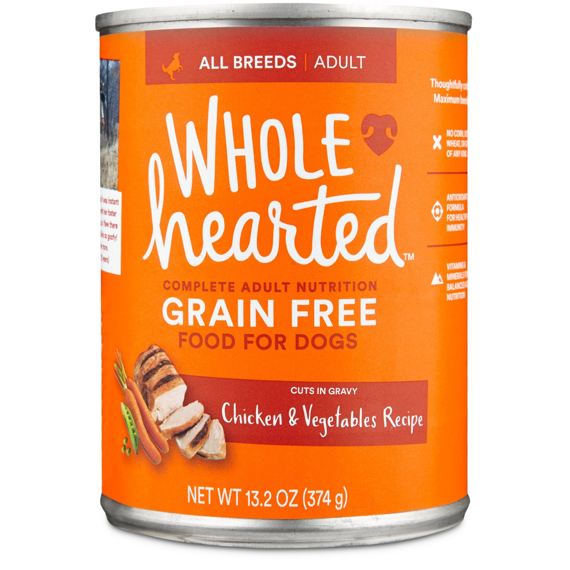 WholeHearted Grain Free Adult Chicken Vegetable Recipe Wet Dog Food