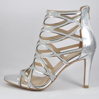 Calidad De Hecho Plata Totalmente Premium Sandalias Tacón Y Artesanía Zapatos Espejo Mujeres Bombas F259m En Turquía Alto Pu Joyas Las eBdoxCr