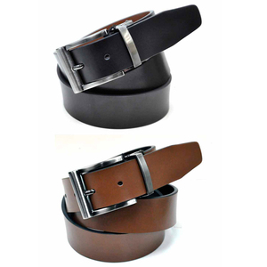 New Arrival Reversible Black, Camel Color Genuine Men Leather Belt
