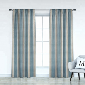 Monad Home Textile Wholesale 100% Cotton Organic Dyed Blackout Type Office Window Curtain