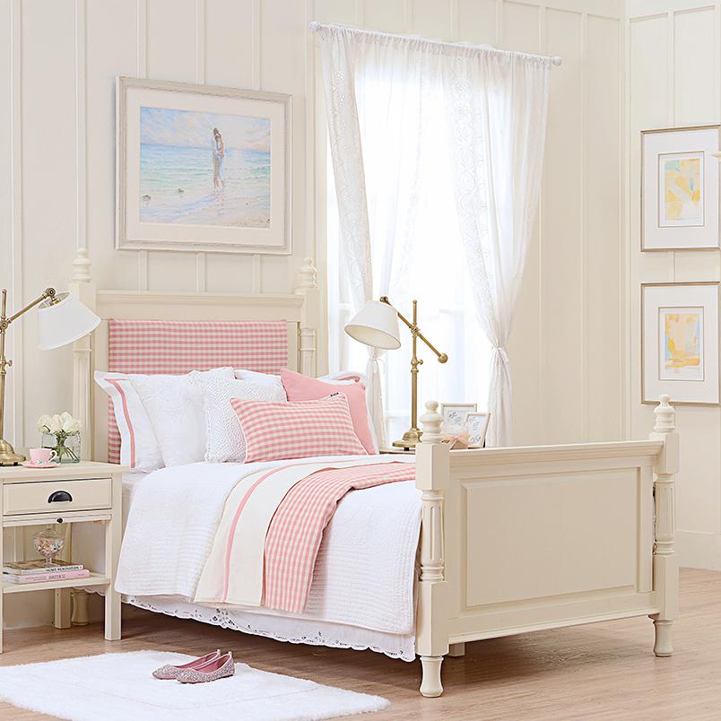 Muebles De Madera Maciza Cama De Madera Marco Piezas Pink Baby Room ...