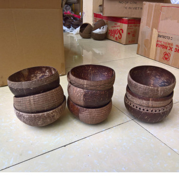 High Quality Coconut Bowls, Engraved handmade natural coconut bowl