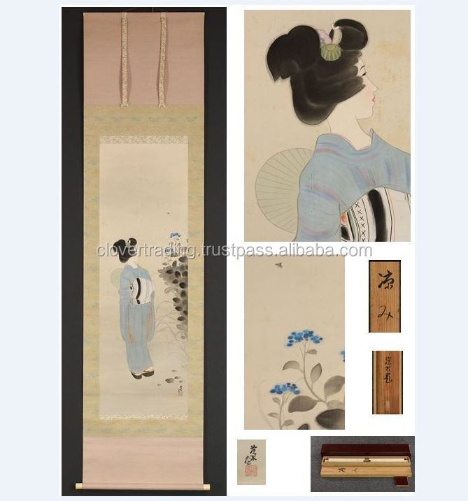 "Shinsui Ito Japanese painting art ""Hanging scroll"""