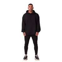 2017 Winter Essential Pullover Hoodie / Oversized Essentials Men's Sweater Reversed Kangaroo Pockets Drop Shoulder / Rear