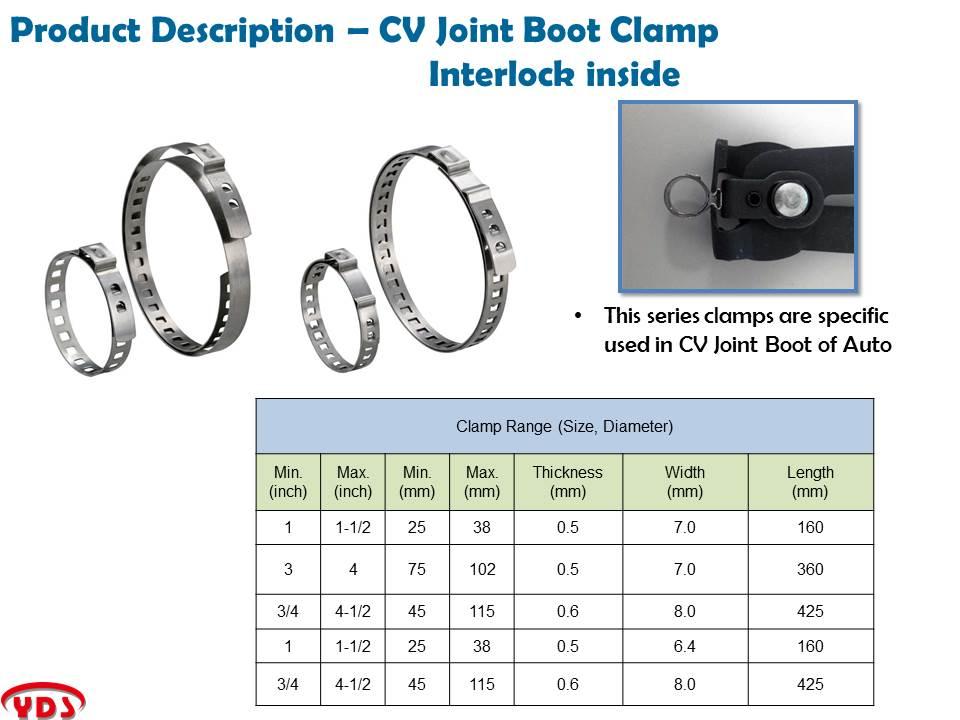 Automobiles Drive CV axle boot joint crimp clamps