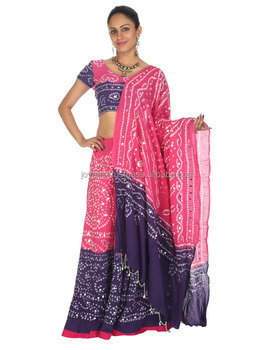 a41bd50a06 Ethnic Wear Mirror Work Tie Dye Rajasthani Cotton Bridal Lehenga Choli For  Women