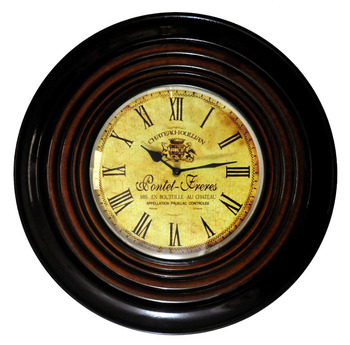 Traditional Home Decoration Wooden Antique Style Wall Clocks Large Retro Watches Round Clock Exclusive